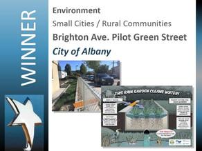 Benefits of Biofiltration Highlighted through Award-winning Green Street Pilot Project