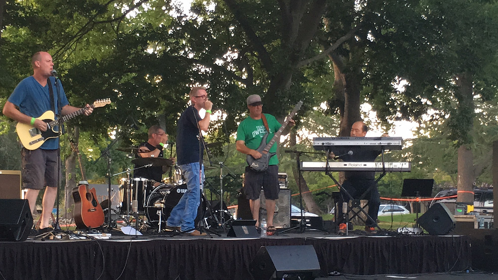 WRECO's Laboratory Manager Ray Downes and his band The Verge at the APWA Sacramento Music Festival