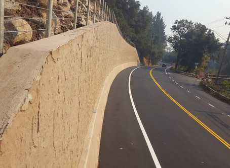 Silverado Trail Storm Damage Repaired with 280-foot Retaining Wall