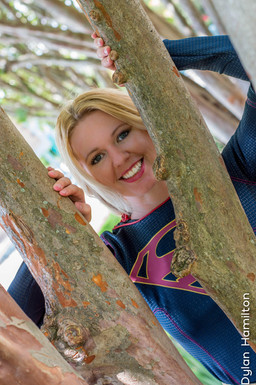 Cospaly and Coffee as Supergirl