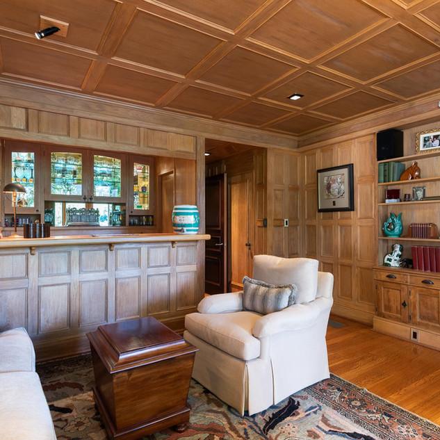 Wood-Lined Pub Room