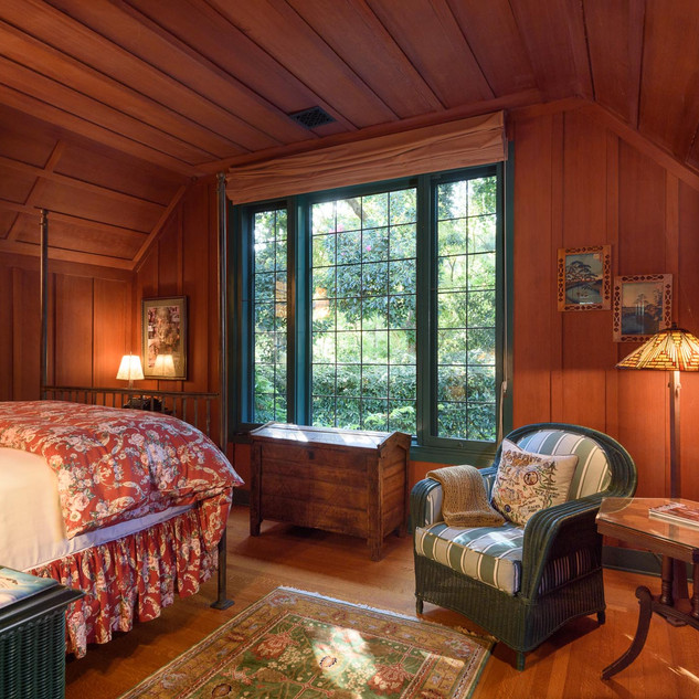 Guest House #1 - bedroom with picture window and lovely views