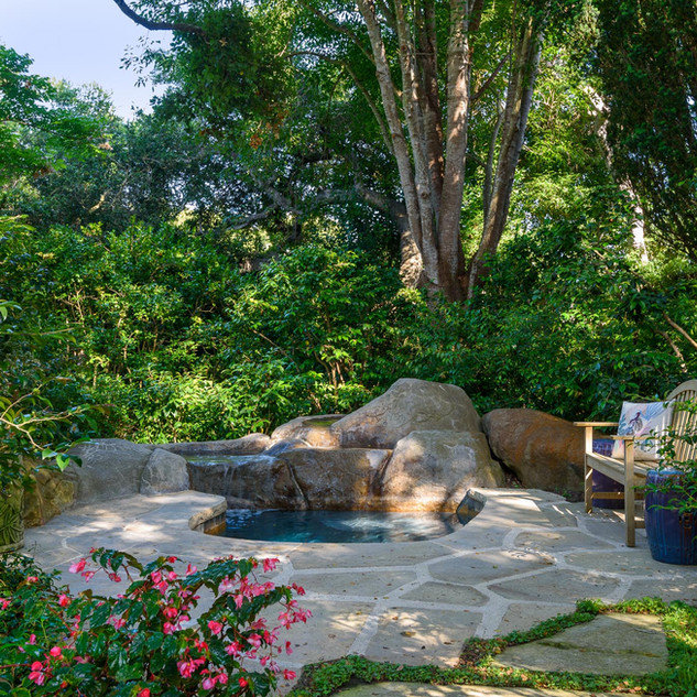 In-Ground Jacuzzi with waterfall