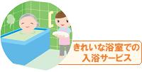 デイサービスで行う入浴は、短時間のデイサービス以外では一般的に行われているので、入浴後にリラクゼーションや健康サービスを行わないと集客や差別化にはなりません