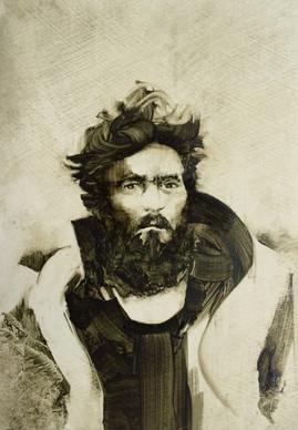 Explorer, Oil on Card, 10.5 x 15 cm