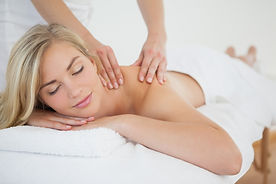 Woman massage therapy session