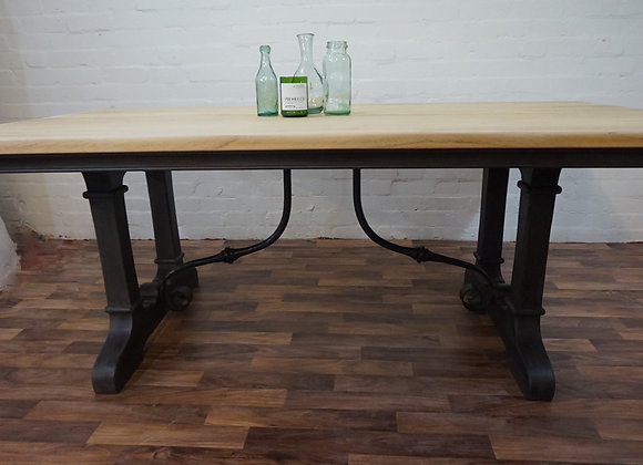 Vintage Industrial Reclaimed Dining Table
