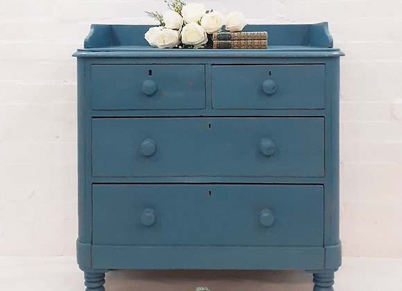 Antique Victorian Pine painted chest of drawers