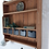 Thumbnail: Vintage pine wall shelf with storage drawers