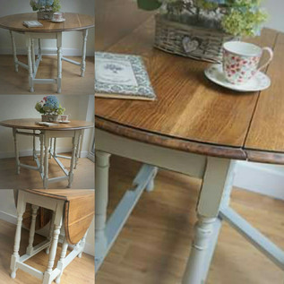 Solid oak gateleg table