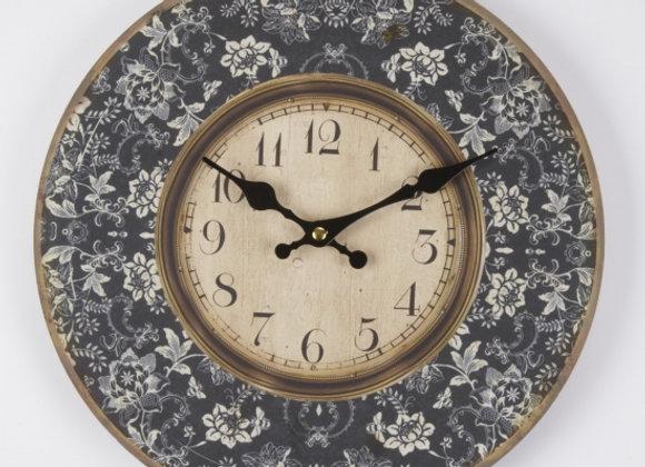 Flowers design wall clock