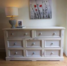 Large multi tonal apothecary style drawers