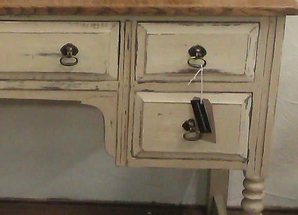 French style desk/dressing table with wooden top SOLD