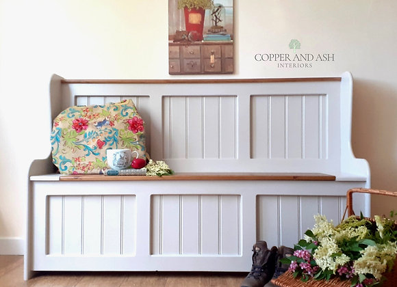 Five foot monks bench with storage