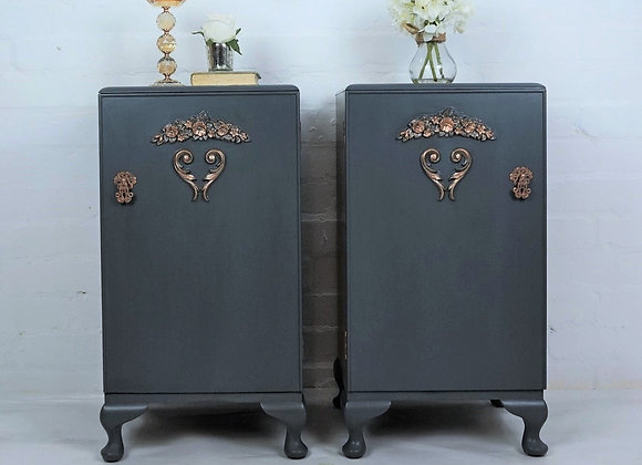 French style cabinets, bedside cabinets, grey cabinets