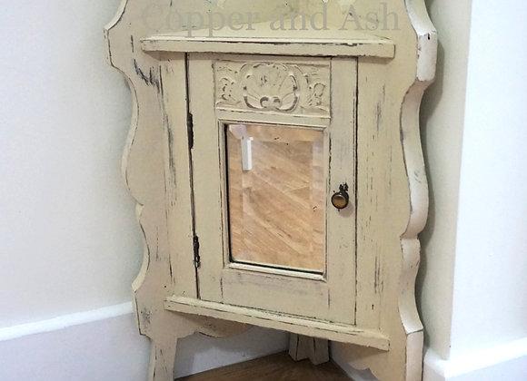 Vintage ornate corner cabinet SOLD