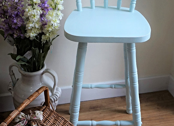 Gorgeous duck egg blue bar stool