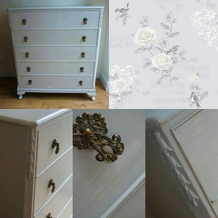 Set of drawers with new feet added