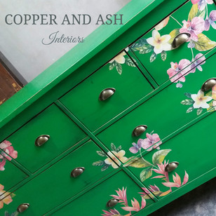 Large decoupaged statement drawers