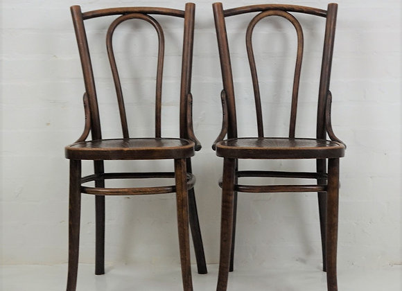 Antique French style bentwood bistro chairs