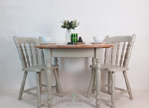 Table and chairs, breakfast/dining set for two to four
