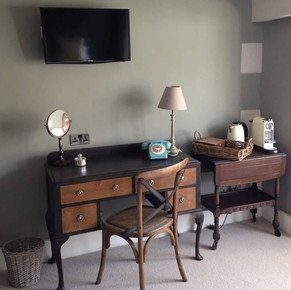 Desk and table for boutique hotel
