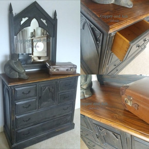 Large sideboard and mirror