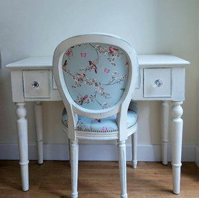 Dressing table and chair