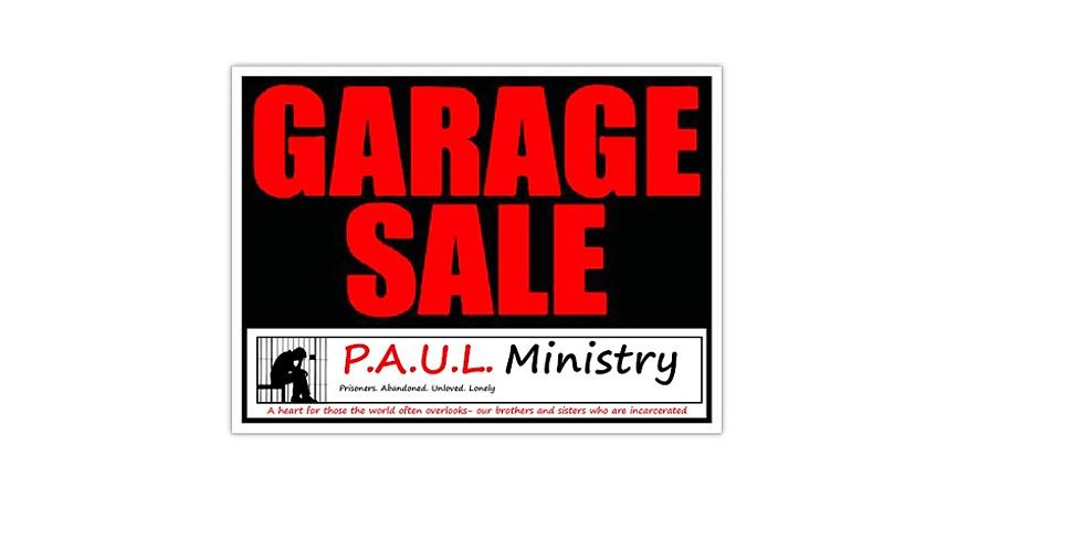 P.A.U.L. Ministry - Garage Sale Fundraiser