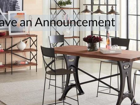 We've got announcements!