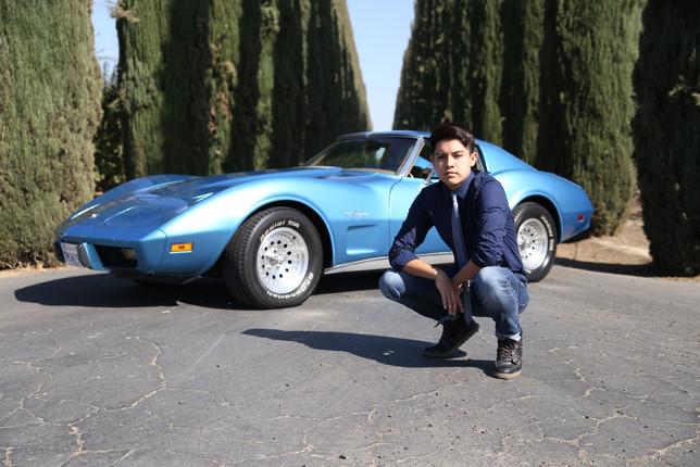 Senior Portrait with car