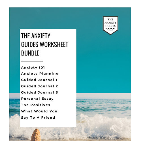 The Anxiety Guides Worksheet Bundle 1
