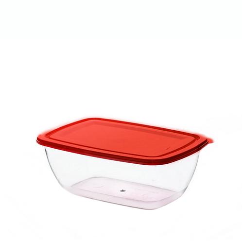 Justbox prostokątny czerwony 2,3 L