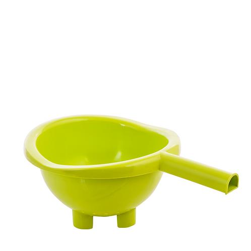 Cedzak z uchwytem Zielony