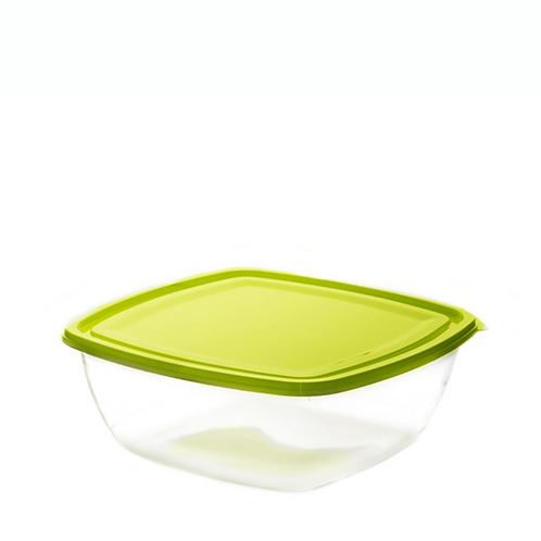 Justbox kwadratowy płaski zielony 3,2 L