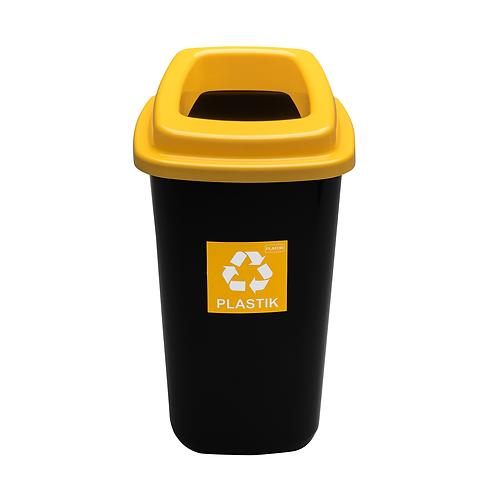 Kosz SORT BIN żółty plastik 45L
