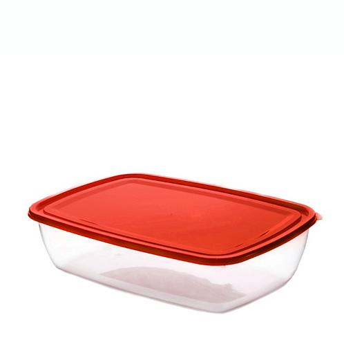 Justbox prostokątny płaski czerwony 2,9 L