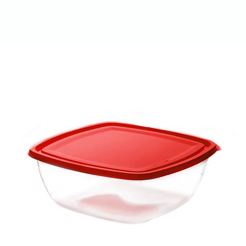 Justbox kwadratowy płaski czerwony 3,2 L