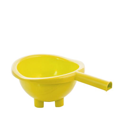 Cedzak z uchwytem Żółty