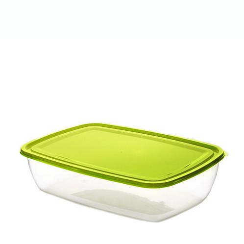 Justbox prostokątny płaski zielony 2,9 L