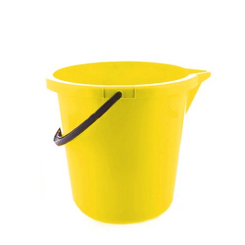 Wiadro z lejkiem zółte
