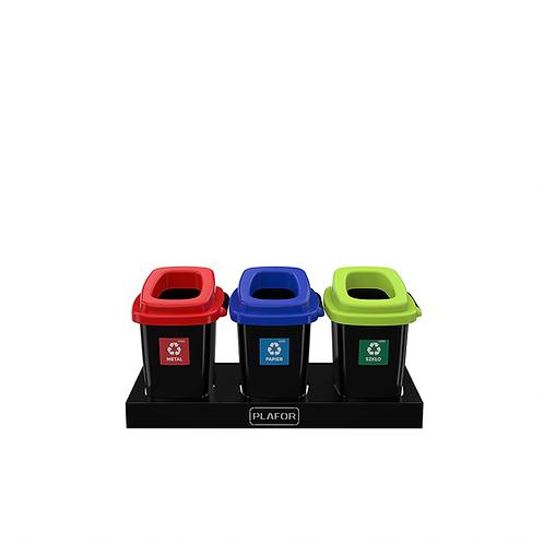 Zestaw do segregacji 3 x 28L kolor