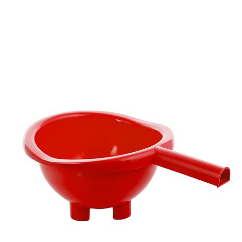 Cedzak z uchwytem Czerwony