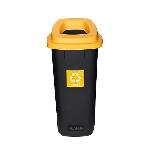 Kosz SORT BIN żółty plastik 90L