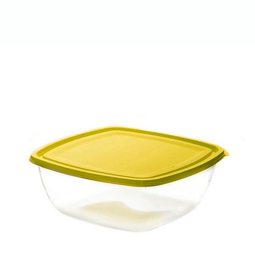 Justbox kwadratowy płaski zółty 3,2 L