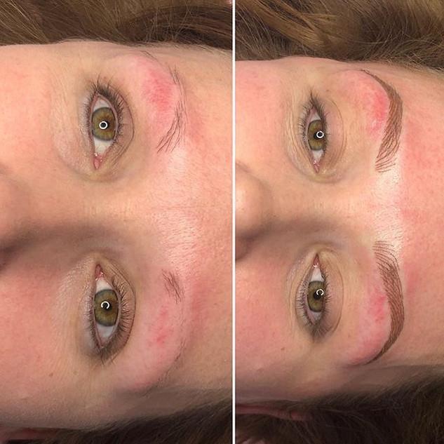 Semi permanent 3D brows