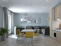 Жилой апартамент, гостиная