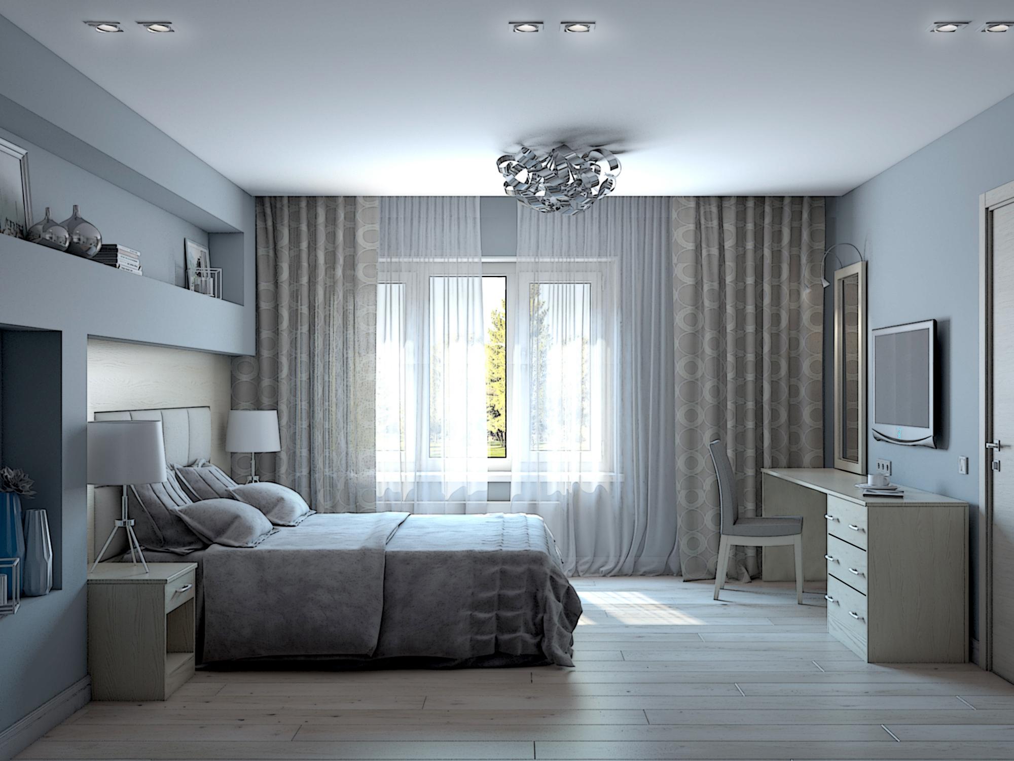 Жилой апартамент, спальня