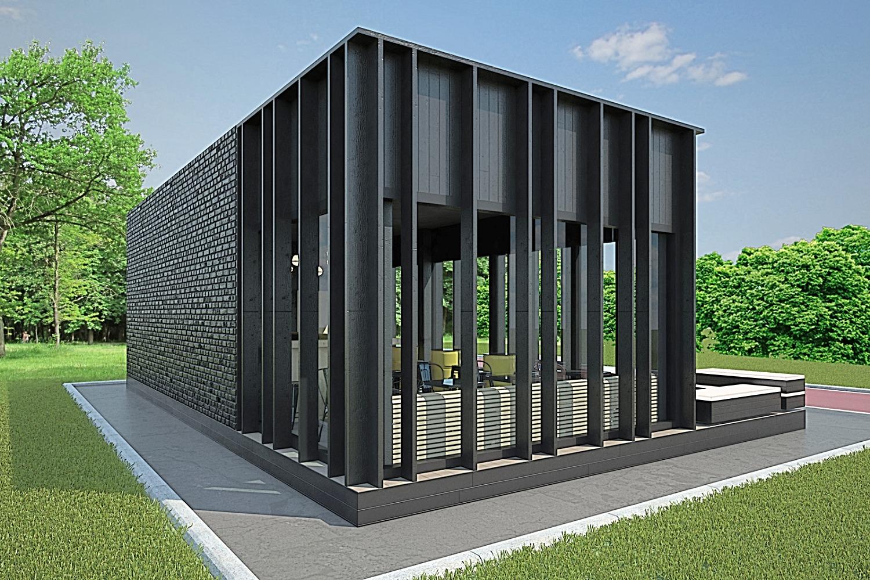 Дизайн павильона кафе