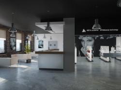 Дизайн зоны ресепшн и магазина